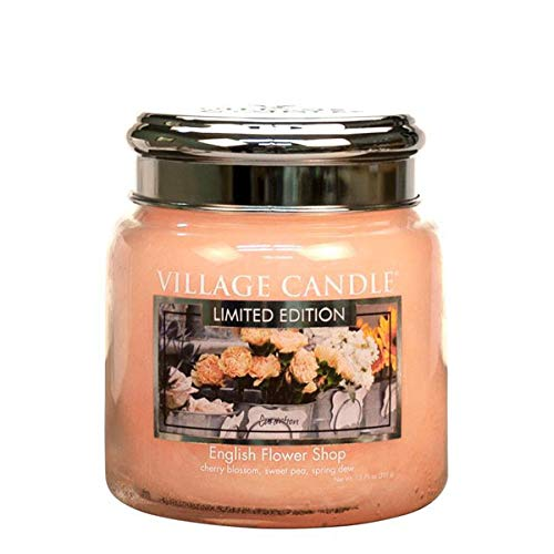 Village Candle - geurkaars - kaars - traditie - Engels Flower Shop - 411 g - Limited Edition