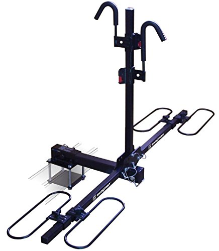 Swagman Bicycle Carrier TRAVELER XC2 RV Approved Hitch Mount Bike Rack , Black