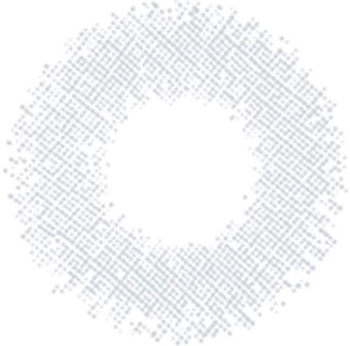 Matlens – EOS Farbige Kontaktlinsen ohne Stärke Serie CrystalB white weiss grau 2 Linsen 1 Kontaktlinsenbehälter 1 Pflegemittel 50ml