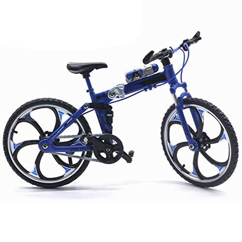 1:10 Aleación Diecast Metal Bicicleta Bicicleta Plegable Modelo Ciclismo Juguetes para niños Regalos Vehículos de Juguete para niños (Amarillo) ESjasnyfall