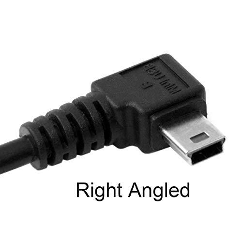 Chenyang Mini-USB- (Typ B) auf USB 2.0-Datenkabel, rechtwinkliger Mini-USB-Kabelstecker, 5-polig, mit EMI-Ferritkern, 5 m