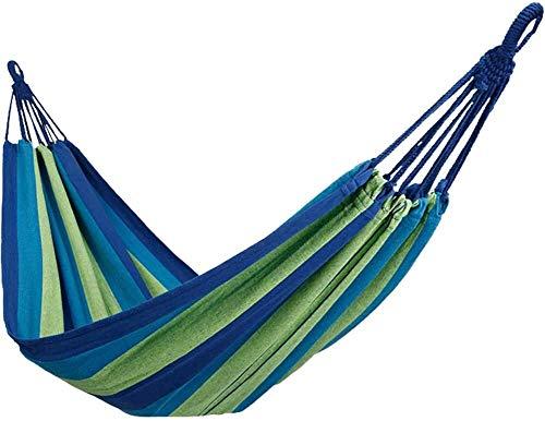 Einzelne Personen Mauszeiger bewegt Prävention Hängematten im Freien/Garten Freizeit tragbaren Strand Schaukel Bett Baum Camping Hängematte-Blau 200x100cm suspendiert hängen (79x39inch)