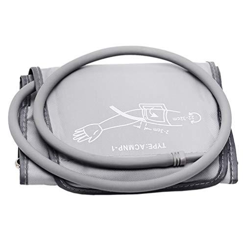 HEALLILY Blutdruckmessgerät Oberarm Blutdruckmanschette Klettmanschette mit integriertem Schlauch Ersatzmanschette Blutdruckmessgerät Zubehör 22-32CM (Grau)