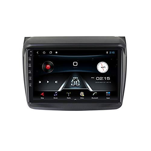 ADMLZQQ para Mitsubishi L200 2008-2016 Android 10 Radio Coche 9 Pulgadas con Bluetooth inalámbrico Incorporado Carplay GPS WiFi AUX USB FM Compatible con Control Volante cámara de Marcha atrás,M150