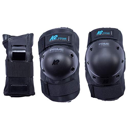 K2 Skates Damen PRIME PAD SET W Handgelenkschoner, Black-Blue, XL (Knee: A:45-49cm B:39-42cm / Elbow: A:30-33cm B:29-32cm / Wrist: A:24-26cm B:21-23cm)