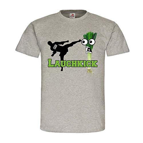 LauchKick EGS Fun Humor Spass Karate Boxen Kämpfen Schläge Hippster Lauch #24198, Größe:S, Farbe:Grau