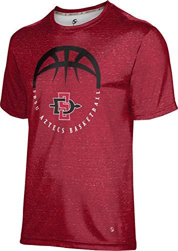 San Diego State University Basketball Men's Performance T-Shirt (Heather) 4ECB0188