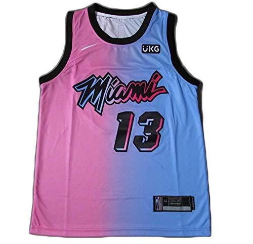 Miami Jersey Adebayo # 13 Chaleco Superior de Baloncesto para Hombre,Tela Transpirable de Malla M