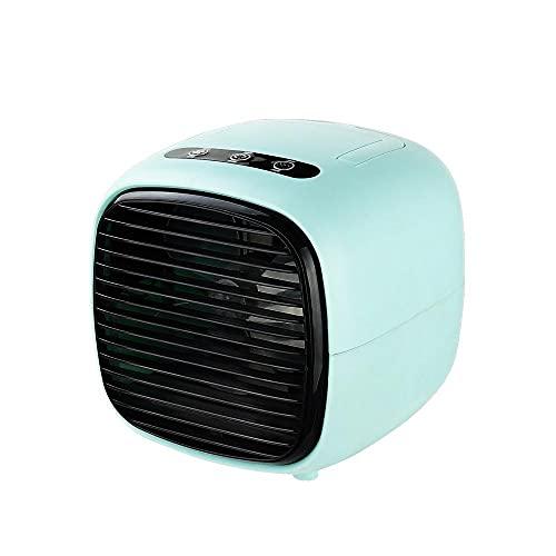 Ventilador de aire acondicionado, Enfriador de aire de escritorio, Ventilador humidificador USB, Suministro de aire de gran angular de 120 °, Silencioso y de poco ruido, Apto para oficina en casa,Blue