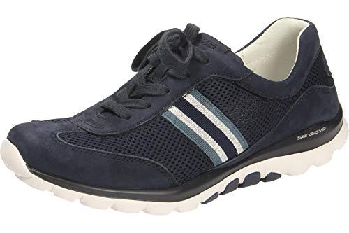 Gabor Damen Sneaker, Frauen Low-Top Sneaker,Übergrößen,Optifit- Wechselfußbett, weibliche Lady Ladies feminin,Blue(naut/silb/bl),39 EU / 6 UK