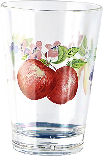 Corelle Coordinates by Reston Lloyd Chutney Acrylic Juice Glasses, 8-Ounce, Set of 6