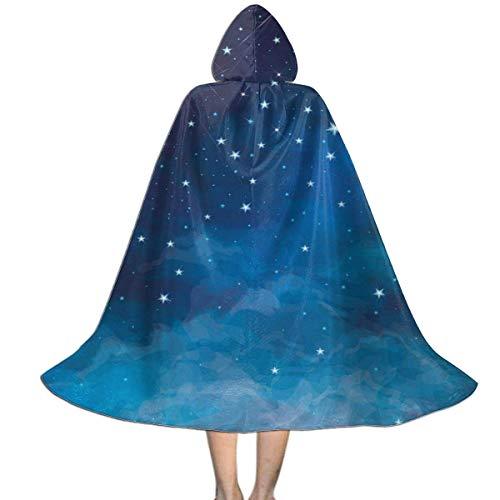 Hangdachang Capa para nios con Capucha, Noche, Estrella Vibrante, Cielo, astronoma, Unisex, de Cuerpo Entero, con Capucha, Capa, Capa Larga, Disfraz de Cosplay M
