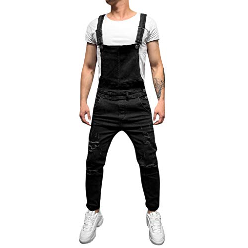 Fannyfuny Sling Jeanshose Mode Herren Destroyed Jeans-Hose Arbeitskleidung Arbeitshosen Männer Destroyed Jeanshose Jeans Hose Denim Overall Slim Fit Chino Hose Jeans mit Taschen Lose Plus Size Hose