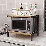 Microondas digitales horno Microondas horno de carro encimera Plataforma Organizador del contador de cocina del estante Tostadora Soportes 30 kg de carga que lleven de 3 niveles en el Salón Cocina hor