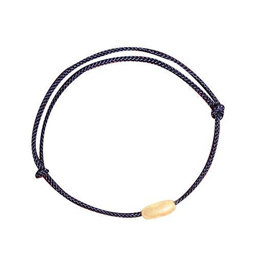 s925 Sterling Silber Schmuck Set weibliche Ratte Jahr mit Reis rotes Seil geflochtenes Armband Geburtsbaby Ratte Halskette weiblich