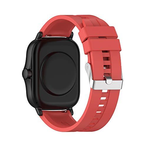 BoLuo 22mm Correa para Huawei Watch GT2 46MM,Correas De Reloj, Bandas Correa Repuesto,Silicona Reloj Recambio Brazalete Correa Repuesto para Huawei watch GT 2e/Watch GT42mm/46mm/GT2 pro (rojo)