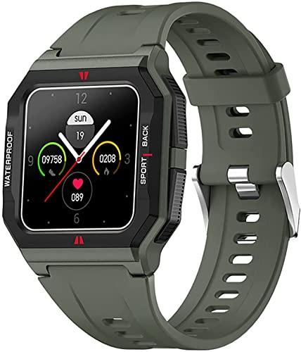 CNZZY FT10 Reloj inteligente para hombre con oxígeno en sangre, presión arterial, monitor de frecuencia cardíaca, rastreador de actividad, cronómetro, paso de calorías, resistente al agua (B)