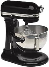 KitchenAid RKV25GOXOB Professional 5 Plus 5-Quart Stand Mixer, Onyx Black (Renewed)
