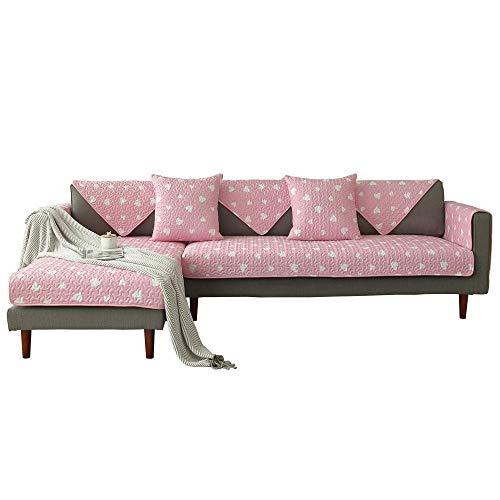 YUTJK Sofá Fundas Antideslizante,Toalla de sofá Cubierta,Protector de Muebles,Lanzar Juegos de Funda de cojín Estar,Cubierta de sofá de impresión de Tela de Sala de Estar-Rosa 1_110×180cm