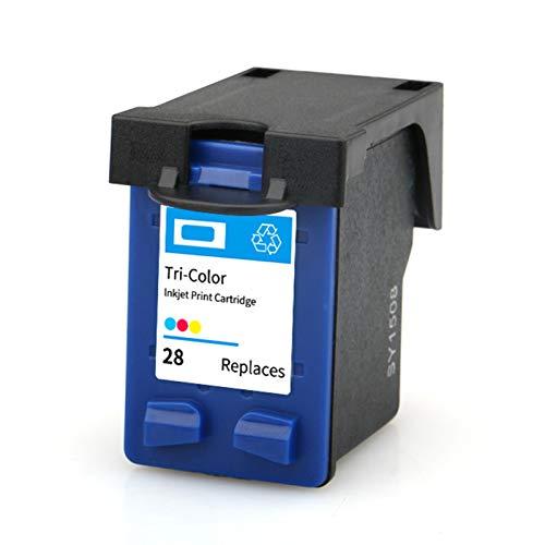 SXCD Cartucho de tinta de repuesto para impresora HP Deskjet 5608 5679 3323 FAX 1240 OfficeJet 4110 PSC 1205 1209 compatible con impresoras de inyección de tinta, color negro tricolor
