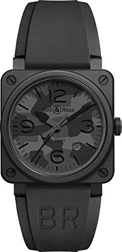 Bell & Ross Instruments BR 03-92 - Orologio da uomo in ceramica, 42 mm, colore: Nero