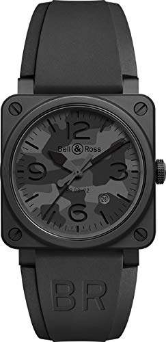 Bell & Ross Instruments BR 03-92 - Reloj para hombre (cerámica, 42 mm), color negro