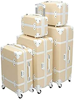 Murano Luggage Trolley Bags Set, 5 Pcs, Beige - 5-665511