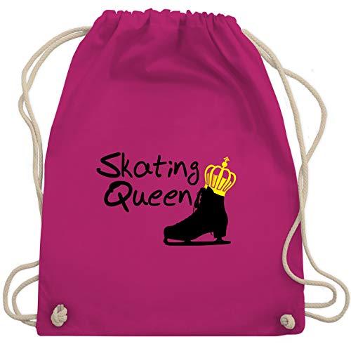Shirtracer Wintersport - Skating Queen - Unisize - Fuchsia - WM110 - Turnbeutel und Stoffbeutel aus Bio-Baumwolle