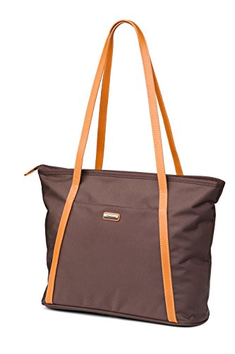 Melvin Handbag/Polyester Exterior with 100% leather straps/Great Capacity/Multi Pocket Handbag