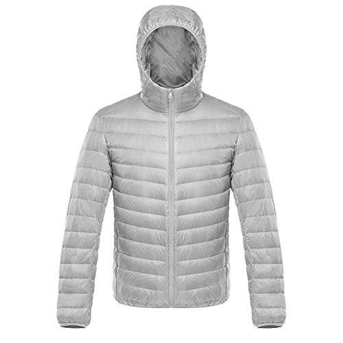 YGCLOTHES Down Jacket Mens Outwear Coat Hooded Slim Ademend Waterdicht Winddicht Warm Lichtgewicht Winter Goose Puffer Gecapitonneerde Winter Parka Jassen