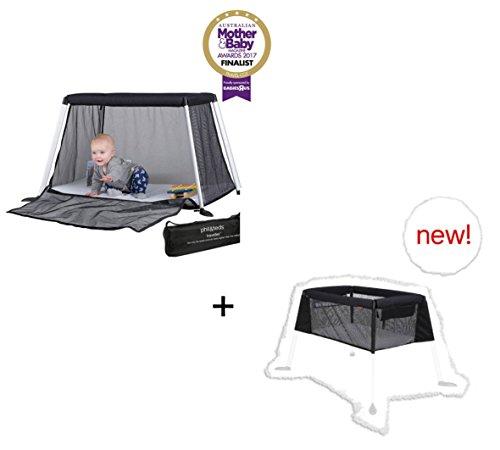 Phil&Teds Reisebett traveller travel crib (Version 4) inkl. Matratze und 1 Spannbetttuch + Beibett traveller bassinet bundle inkl. Matratze und 1 Spannbetttuch