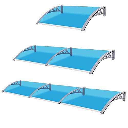 RZEMIN Vordach Fur Haustur Markise, Blue Pc Endurance Board Halterung Aus Aluminiumlegierung Anti-UV-Klimaanlage Markise Silent Canopy (Color : Blue, Size : 80x120cm)