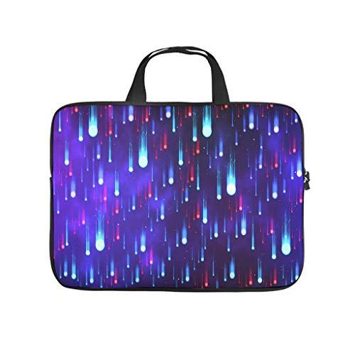 Bolsa para ordenador portátil, resistente al agua, diseño de estrellas fugaces, color rojo y azul