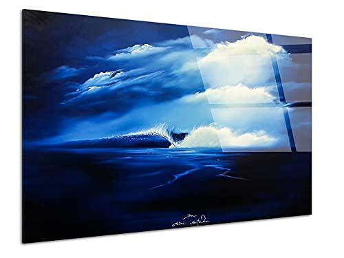 DECLINA - Cuadro decorativo sobre plexiglás Perfect Wave - Pintura retro bertoche,...