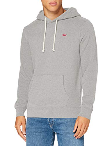 Levi's New Original Hoodie Hooded Sweatshirt, Eco Gray Heather, M Uomo