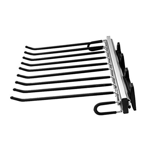OCYE Kleiderbügel Hosenhalter ausziehbar Hosen-Auszug Kleiderschrank für 9 Hosen mit Ablage | Länge 46 cm | 1 Stück - Hosen-Aufhänger für Schränke
