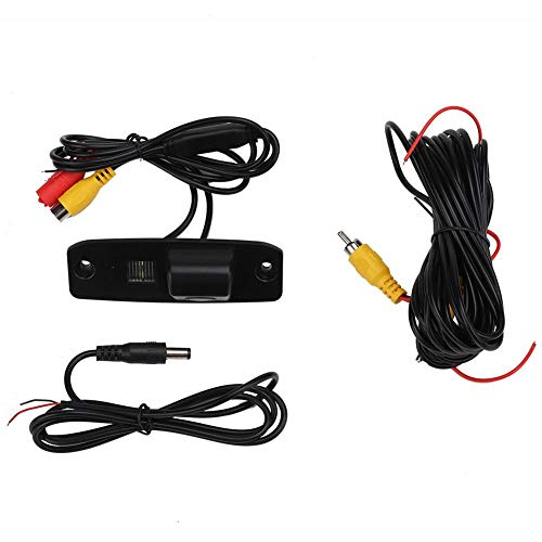 Reverse Rear View Camera, 170° Wide Angle ABS Car Rear View Reverse Parking Camera Fit for Hyundai, Black