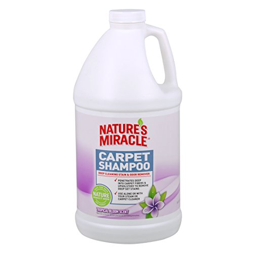 Nature's Miracle Tropical Bloom Scent Deep Cleaning Carpet Shampoo, Tropical Bloom, .5 gallon