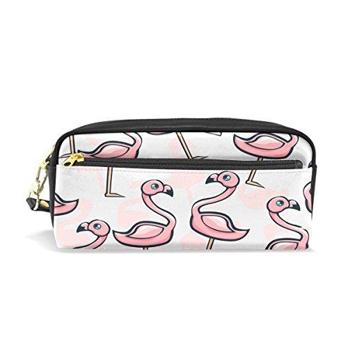 Trousse, Rose Flamingo Imprimé Voyage Maquillage Pouch Grande capacité étanche Cuir 2 compartiments pour filles garçons femmes Hommes