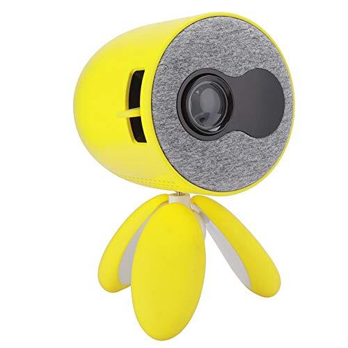 Mini proyector, proyector portátil para dibujos animados, proyector de películas al aire libre, proyector de video para cine en casa, con interfaz de tarjeta de memoria HD /USB2.0 /(EU Plug)