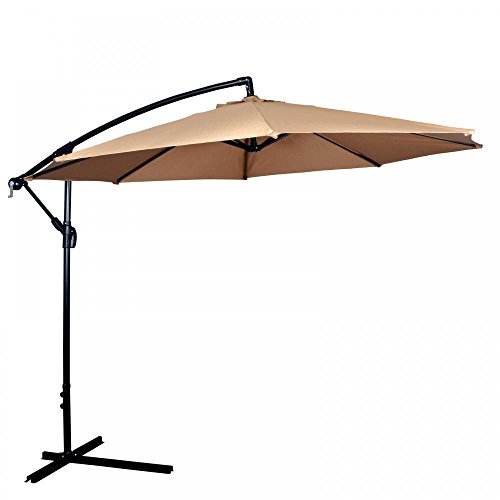 Patio Umbrella Offset 10' Hanging Umbrella Outdoor Market Umbrella D10