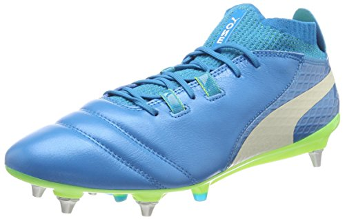 Puma PUMA Herren ONE 17.1 Mx SG Fußballschuhe, Blau (Atomic Blue-White-Safety Yellow), 41 EU