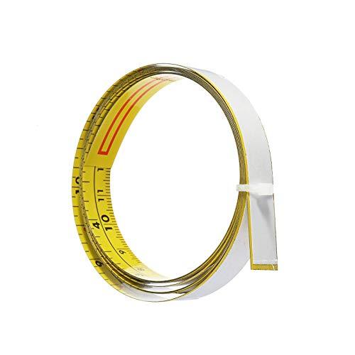 YuuHeeER Cinta métrica autoadhesiva de 2 m y regla métrica para inglete