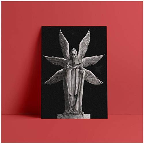 WSHIYI Pest Doktor Konzeptkunst Engel Malerei Wandkunst Leinwand für Wohnzimmer Schlafzimmer Studie Wohnheim Zimmer Kunst Dekoration Drucke-40x50cm kein Rahmen