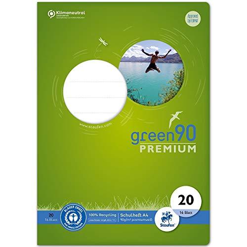 Staufen 040782020 - Heft Green, Lineatur 20, DIN A4, 16 Blatt, 90g/m², blanko, 1 Stück