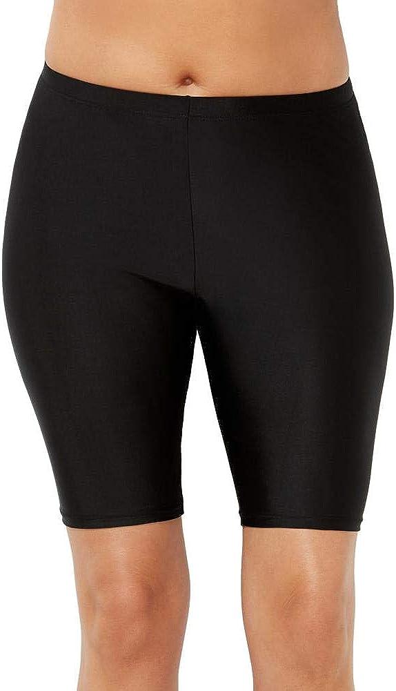 Swimsuits For All Women's Plus Size Chlorine Resistant Lycra Xtra Life Long Bike Short Swim Bottom