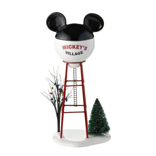 Department 56 Disney Village Mickey Water Tower Accessory Figurine, 11.875 inch