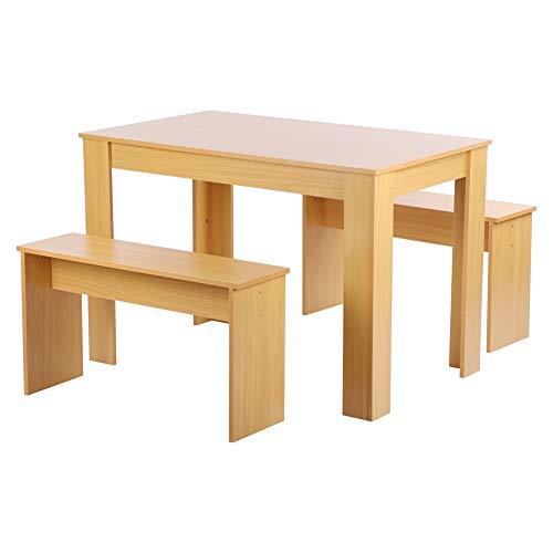 ViaGasaFamido Juego de Mesa de Comedor con 2 Puestos de Trabajo. Juego de Mesa de Comedor Fabricado en MDF. Mesa de Cocina Rectangular para Cocina, Cocina y salón, de Madera, 108 x 65 x 72 cm