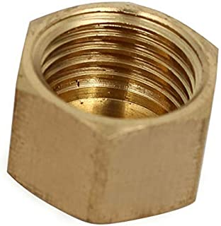 Tapa de tubo de cabeza hexagonal de latón 10PCS 16.2mm Cabeza externa Accesorios de tubería de cabeza hexagonal Tapones hembra Roscado