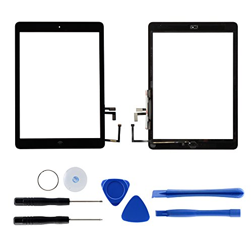 For iPad Air 1 A1474 A1475 Touch Screen Digitizer Glass Replacement with Tools and Adhesive (Black)